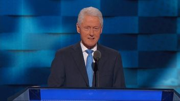 Bill Clinton addresses the Democratic Convention in Philadelphia