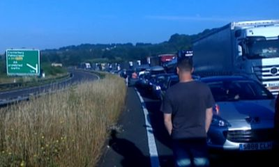 Dover chaos as holidaymakers face 15-hour queue for ferries