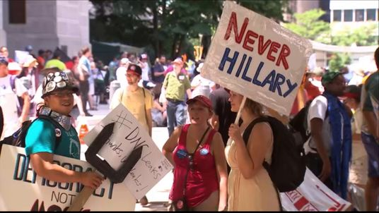 Protests outside the Democratic National Convention in Philadelphia