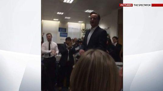 David Cameron Amateur Footage thank you speech