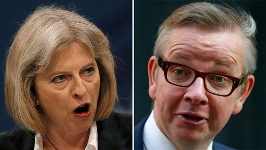 Theresa May and Michael Gove