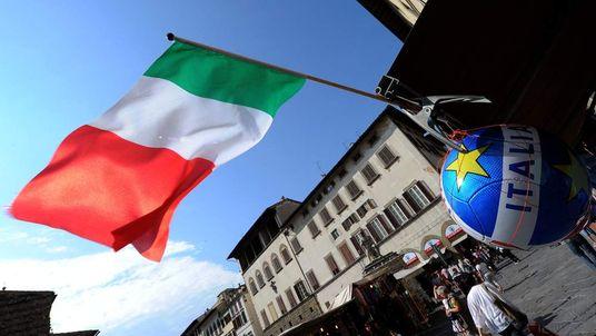An Italian flag