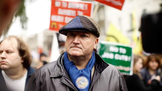 Bob Crow, General Secretary of the RMT union.
