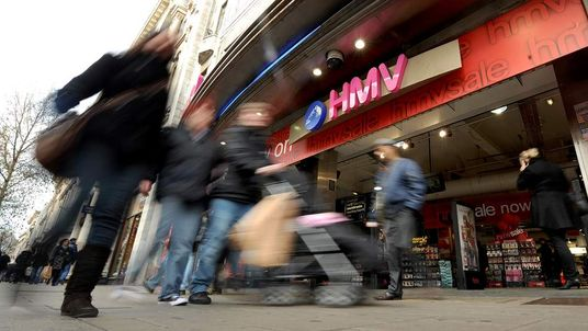 HMV store on Oxford Street