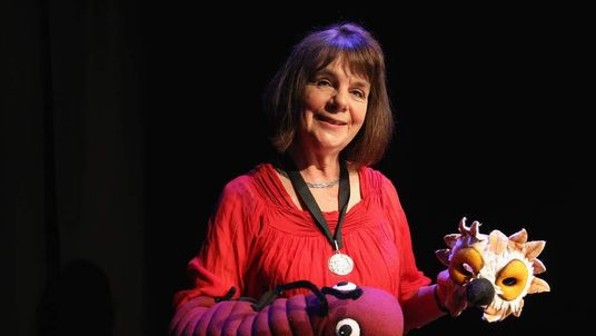Author Julia Donaldson poses for a photograph with soft toy characters from her books after being appointed the new Children's Laureate on June 7, 2011 in London, England.