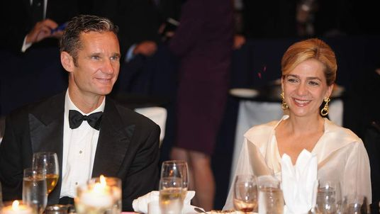 Princess Cristina of Spain with husband Inaki Urdangarin