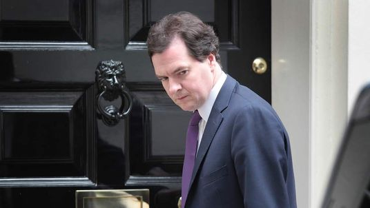 Chancellor George Osborne leaves 11 Downing Street on July 10, 2012 in London.