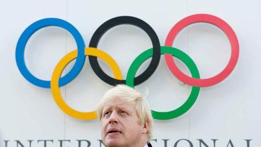 Boris Johnson and Olympic rings