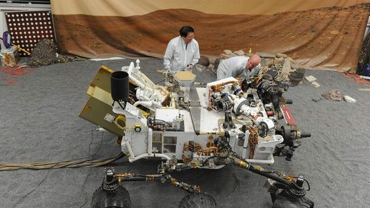Full size model of Curiosity