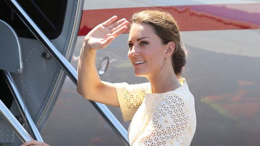 Duchess Of Cambridge Waves As She Leaves Solomon Islands