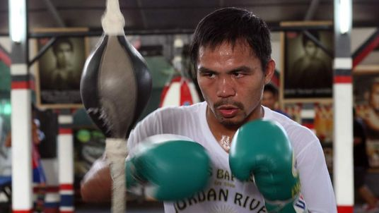 Manny Pacquiao training ahead of Marquez