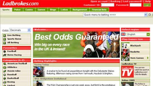 The Ladbrokes website