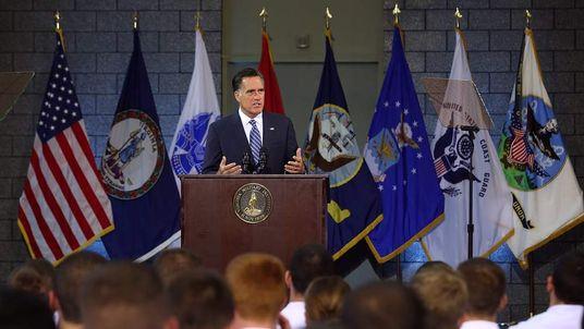 Republican presidential challenger Mitt Romney
