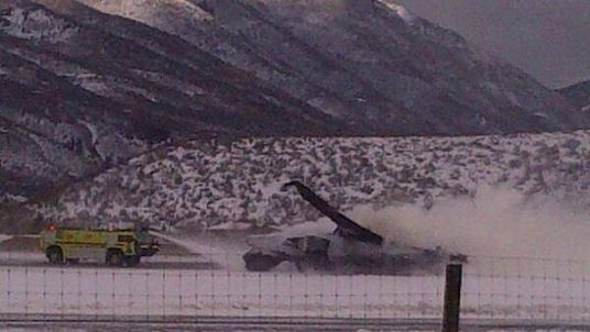 Plane crash at Aspen Airport in Colorado