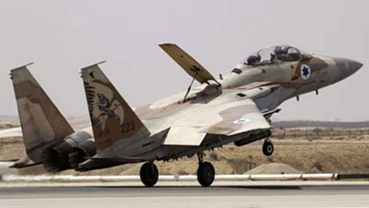 Israel air force F15 jet