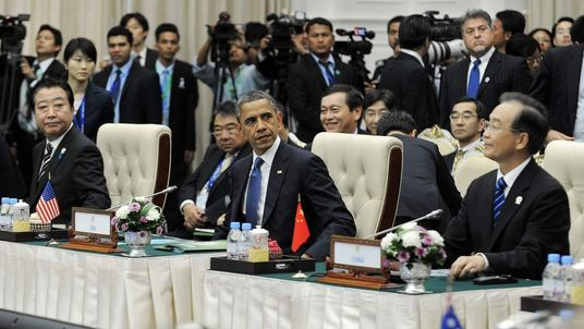 Barack Obama at Asia Summit in Phnom Penh