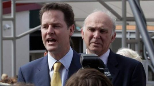 Nick Clegg and Vince Cable during 2010 General Election campaign