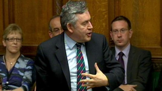 Gordon Brown attacks News International in the House of Commons