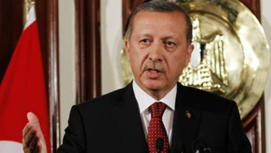 Turkey's Prime Minister Recep Tayyip Erdogan speaks during a news conference