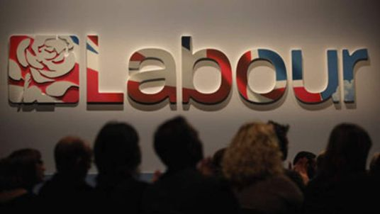 Labour party logo at 2011 conference