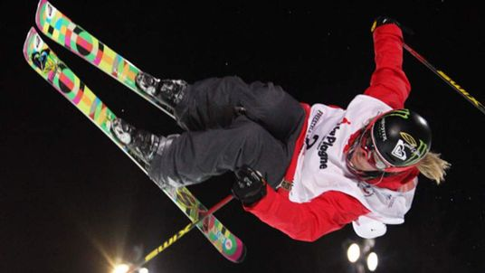 Freestyle skier Sarah Burke in action March 2011
