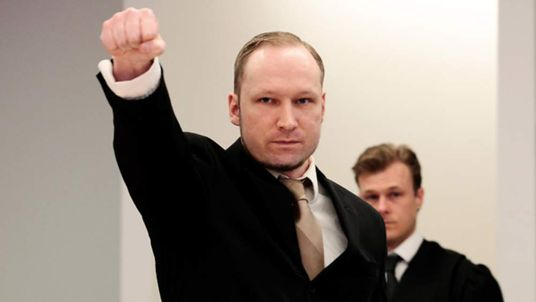 Norwegian mass killer Anders Breivik on second day of his trial