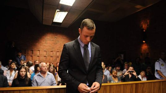 Oscar Pistorius arrives in court