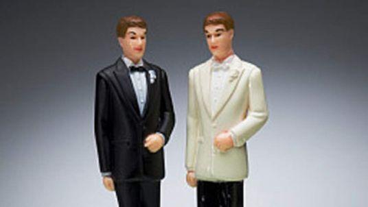 Gay marriage cake figures