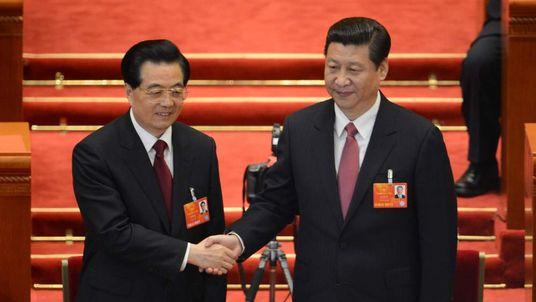 President Xi Jinping And Hu Jintao