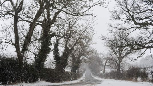 Snow And Rain Hit Britain
