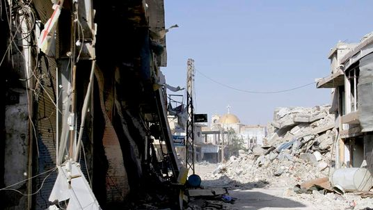 Syria Conflict Shows Ruins In Qusayr