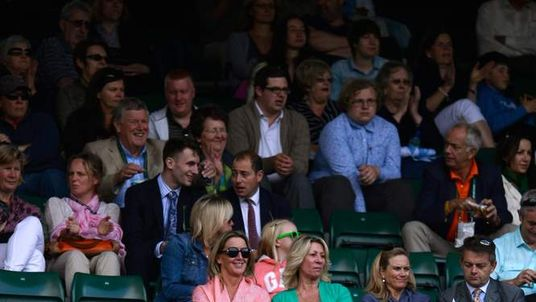Empty seats in the grandstands at Wimbledon