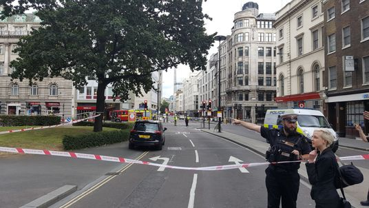 London Fire Brigade has advised people to avoid the area. Picture: @Gavllen