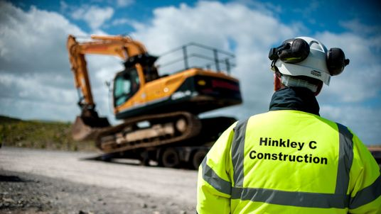 Pre-construction work is under way at the Hinkley Point C site