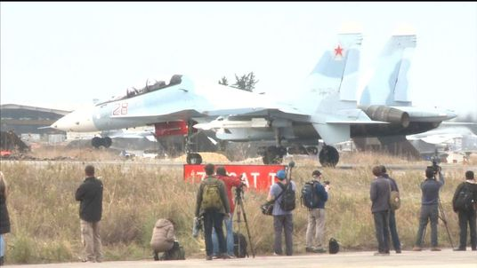 Sky News gets access to Russian airbase
