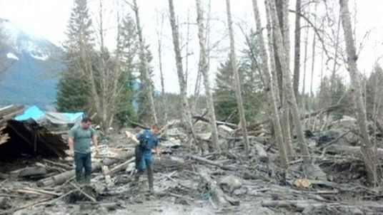 Mudslide in Washington. Pic: Washtngton State Patrol