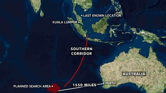 Malaysia Plane Search MH370 Map 0700 Update