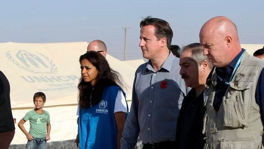David Cameron visits Syrian refugee camp in Jordan