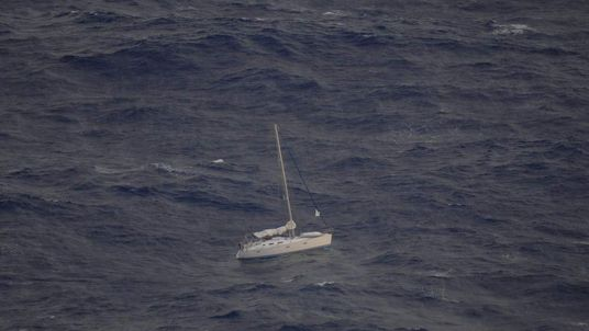 Yacht stranded off Tonga with two people on board