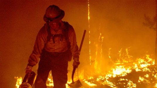 Firefighters Work To Control Arizona Blaze