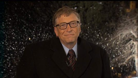Microsoft Founder And Philanthropist Bill Gates Speaks To Sky News From Davos