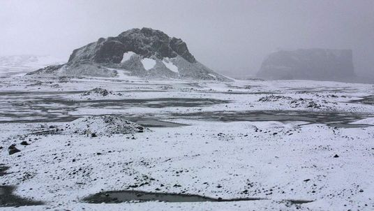 Frozen landscape as seen from the Eduard