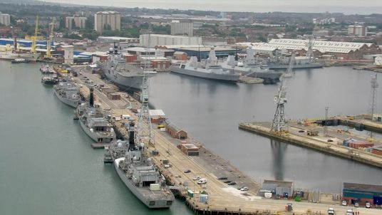 The Royal Navy vessels in Portsmouth