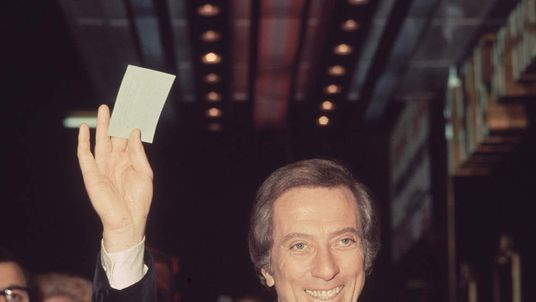 Andy Williams arriving at the Talk Of The Town in London's Leicester Square for a charity cabaret show, in which he starred with Danny LaRue and Frankie Vaughan.