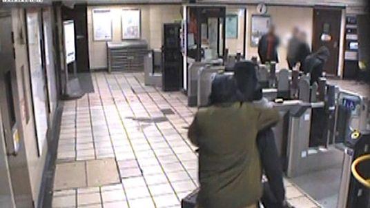 The moment Muhiddin Mire slashed the throat of Lyle Zimmerman at Leytonstone Underground station on 5 December 2015