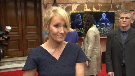 JK Rowling at the premiere of the new show Harry Potter And The Cursed Child