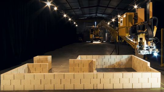 The robot can construct a house in about two days