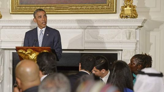 Barack Obama Discusses Mideast Ceasefire At Ramadan Dinner