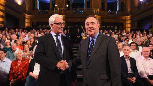 Second Television Debate Between Alex Salmond And Alistair Darling.