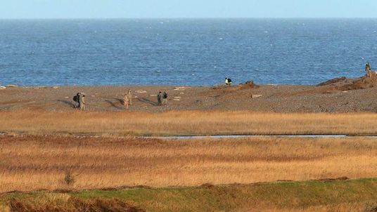 Military personnel and emergency services at scene after US Air Force helicopter crash in Norfolk
